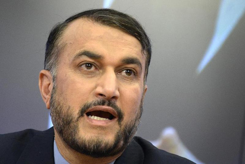 Iran's Deputy Foreign Minister Hossein Amir Abdollahian speaks at a press conference about the crisis in Iraq and the situation in the Middle East in Moscow on July 1, 2014