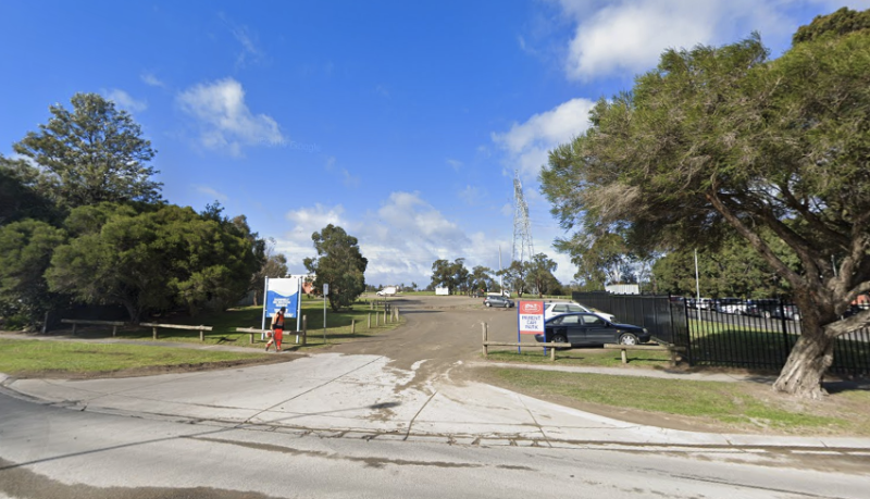 The man's body was discovered by passers-by near a Melbourne primary school.