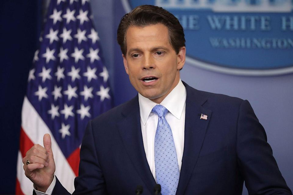 """<p><strong>Former White House communications director</strong></p> <p>Scaramucci, who served as the president's White House communications director for just two weeks in 2017, told CNN's Richard Quest in March 2020 that in an election between Biden and Trump, he'd still consider himself Republican but <a href=""""https://thehill.com/homenews/campaign/486017-scaramucci-of-course-ill-campaign-for-biden"""" rel=""""nofollow noopener"""" target=""""_blank"""" data-ylk=""""slk:&quot;I vote for Joe Biden.&quot;"""" class=""""link rapid-noclick-resp"""">""""I vote for Joe Biden.""""</a></p> <p>He added that he would also campaign for the former vice president. """"We gotta beat Trump,"""" he said. """"C'mon, it's ridiculous. You know, and your viewers know, how crazy Trump is. And they know that sane people have to work together to beat him.""""</p> <p>Scaramucci has been no stranger to cable news, often commenting on the Trump administration and drawing the president's ire as a """"nut job"""" in the process.</p>"""
