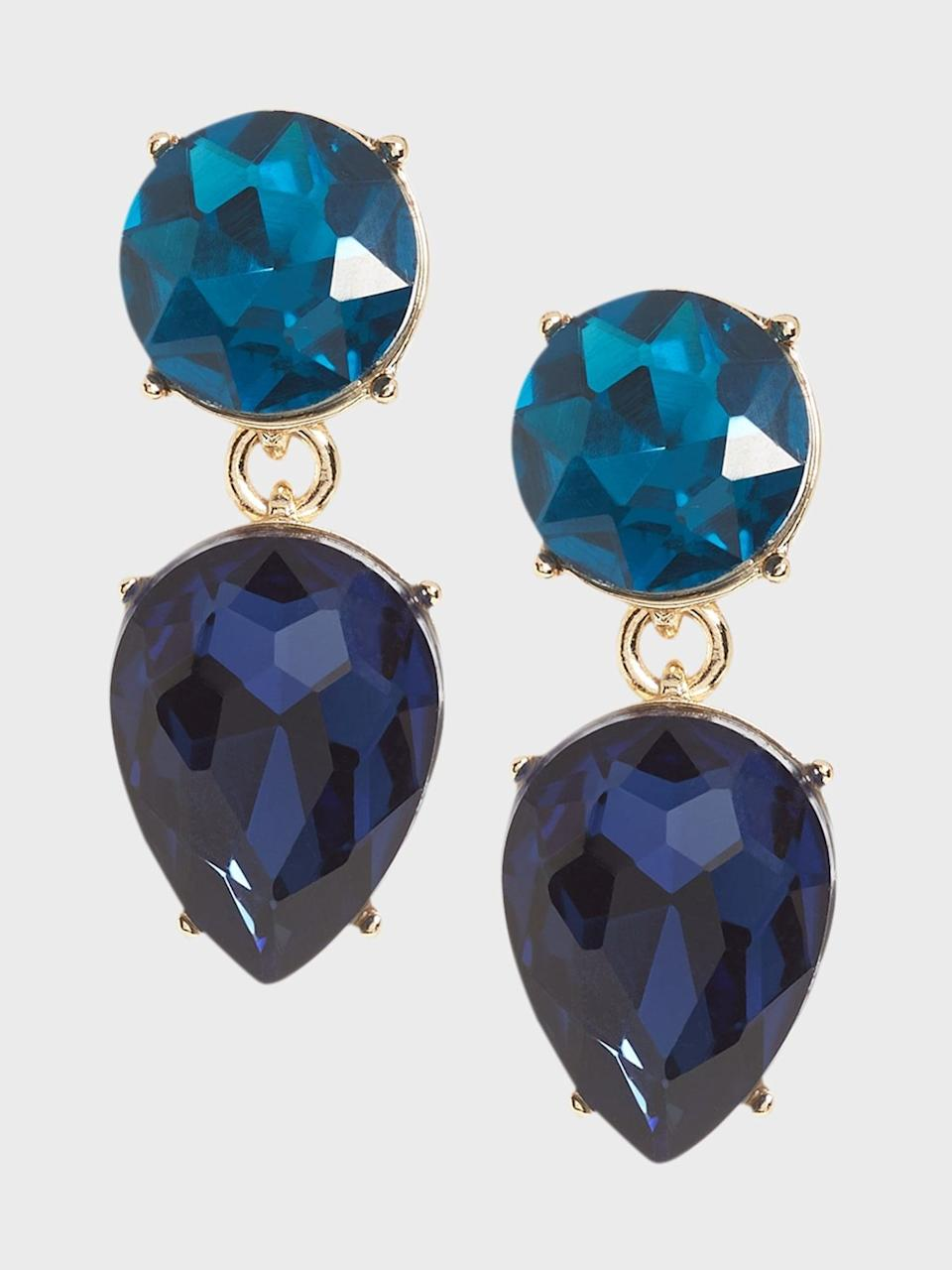 <p>These <span>Banana Republic Double Drop Gem Earrings</span> ($48) are a great statement piece to punctuate a slicked back hairdo!</p>