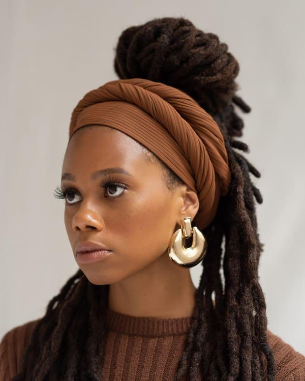 """<p>The Wrap Life Ribbed Jersey Head Wrap, $26, <a href=""""https://thewrap.life/collections/ribbed-head-wraps/products/ribbed-head-wrap-cider"""" rel=""""nofollow noopener"""" target=""""_blank"""" data-ylk=""""slk:available here"""" class=""""link rapid-noclick-resp"""">available here</a>.</p>"""