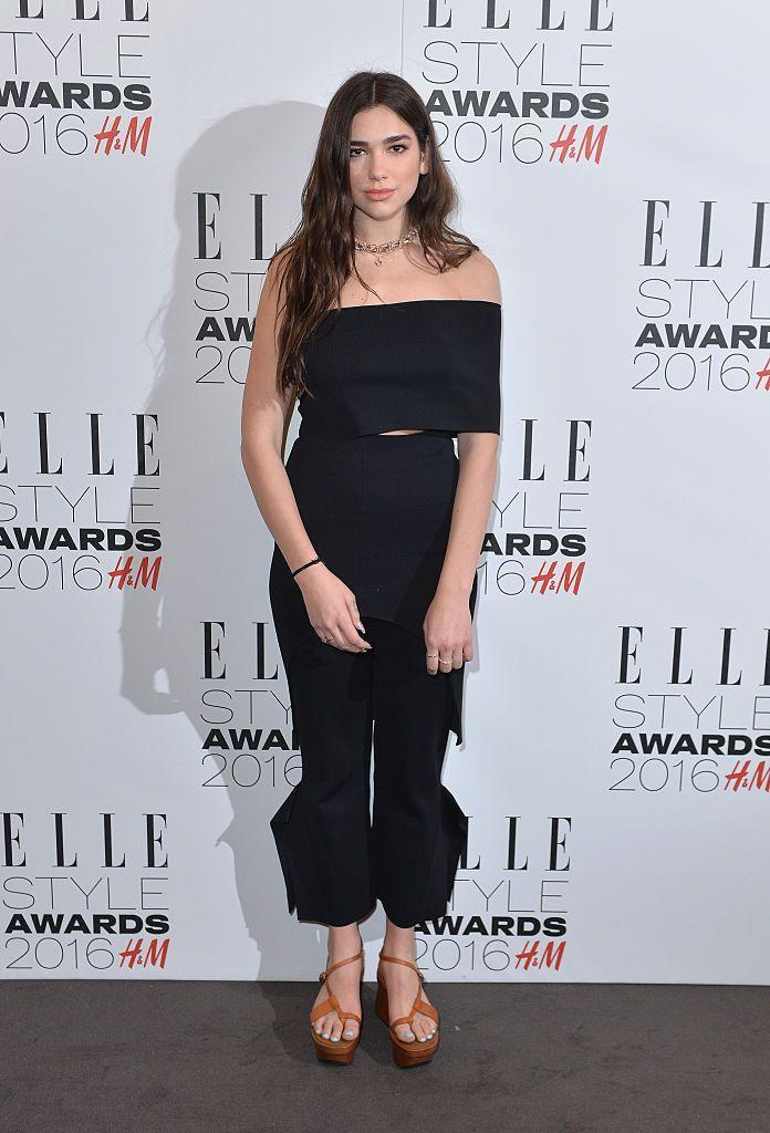 <p>Lipa wore all black to the ELLE Style Awards.</p>