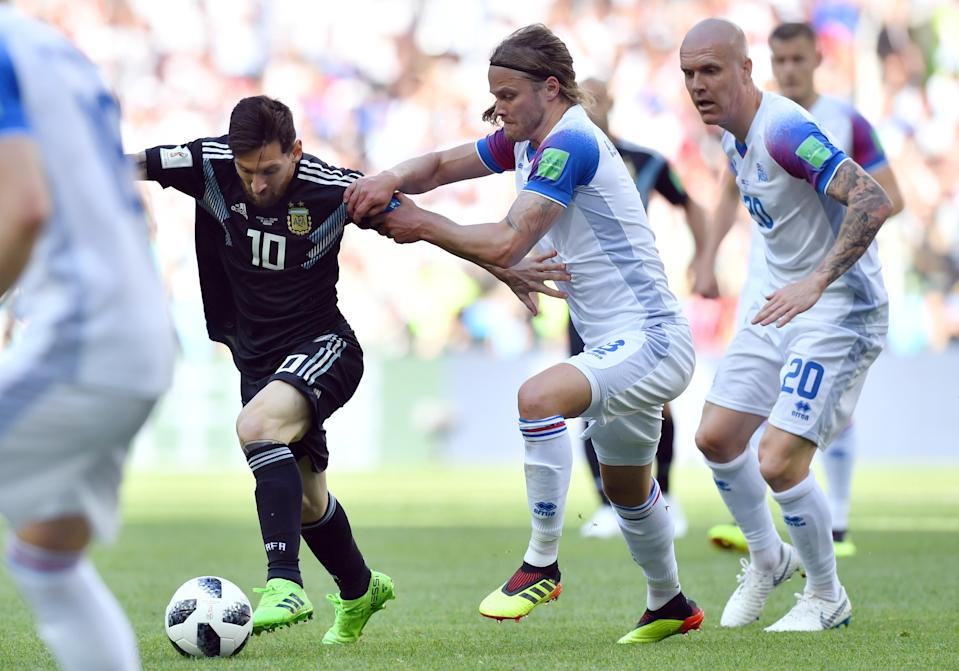 Lionel Messi and Argentina drew 1-1 with Iceland in their 2018 World Cup opener. (Getty)