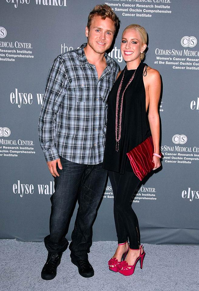 """Spencer Pratt and Heidi Montag attend the 4th Annual Pink Party at the Barker Hanger in Santa Monica, CA. The Elyse Walker-hosted fete raises funds and awareness for womens' cancers. Steve Granitz/<a href=""""http://www.wireimage.com"""" target=""""new"""">WireImage.com</a> - September 13, 2008"""