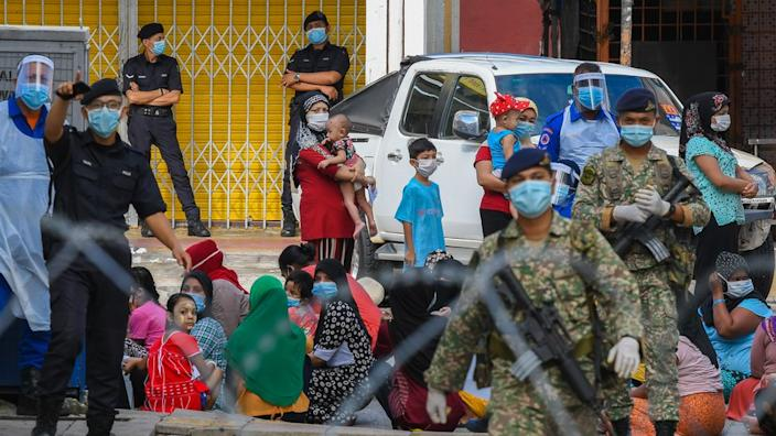 Children and Rohingya refugees were among those arrested, activists say