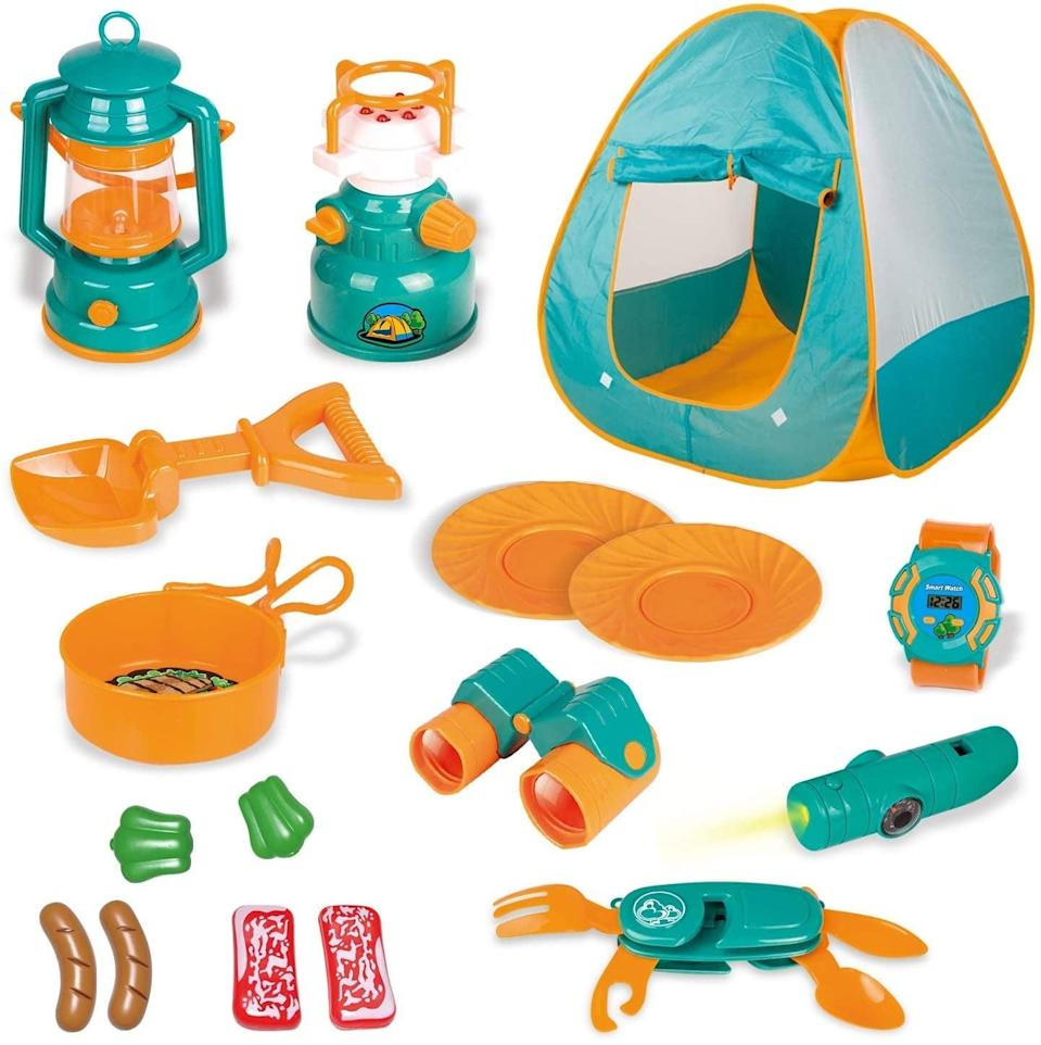 <p>If the only camping you'll be doing is in the backyard, get your kids involved with this cute <span>Kids Camping Gear Set</span> ($29, originally $34). It has everything they'll need to pretend like they're deep in the woods.</p>