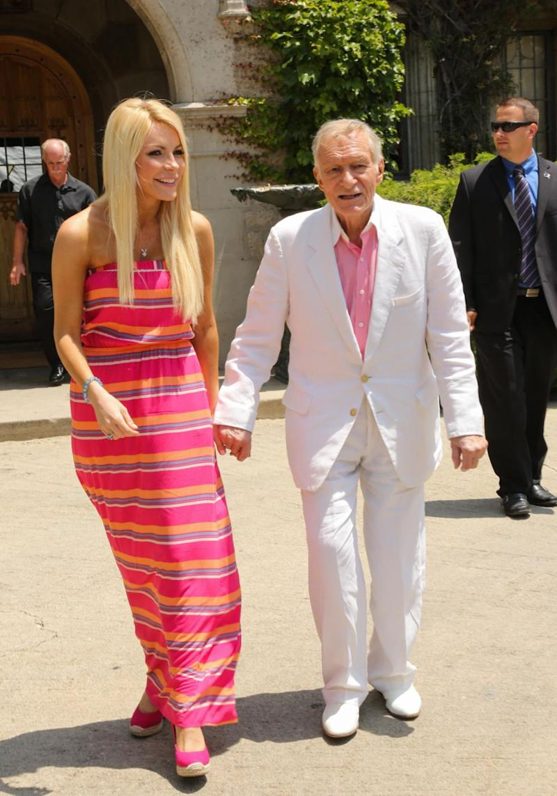 Crystal has opened up about the loss of her husband Hugh Hefner. Source: getty