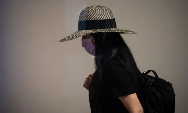 Huawei chief financial officer Meng Wanzhou arrives at the B.C. Supreme Court in Vancouver on June 29.  (Ben Nelms/CBC - image credit)