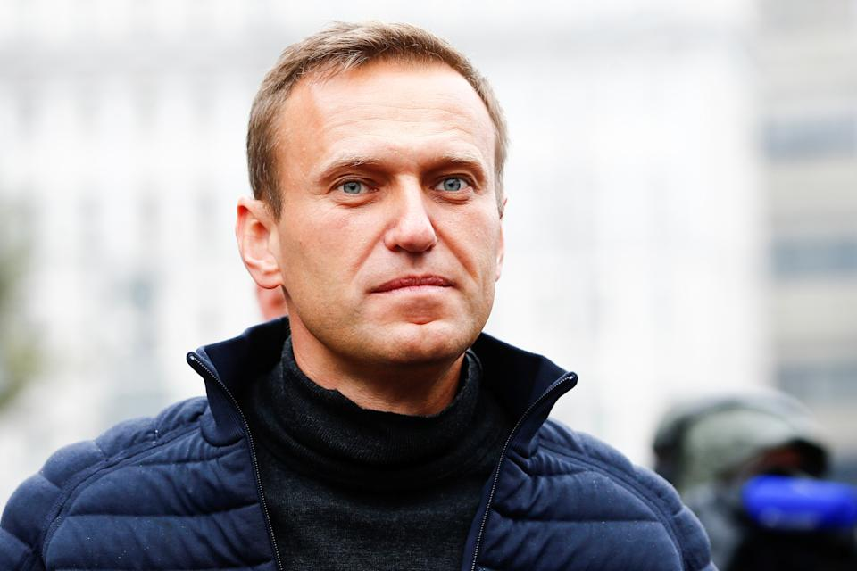 MOSCOW, RUSSIA - SEPTEMBER 29 : Russian opposition leader Alexei Navalny attends a rally in support of political prisoners in Prospekt Sakharova Street in Moscow, Russia on September 29, 2019. (Photo by Sefa Karacan/Anadolu Agency via Getty Images)