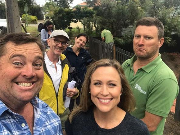 Jason Hodges and Tara Dennis on Better Homes and Gardens.