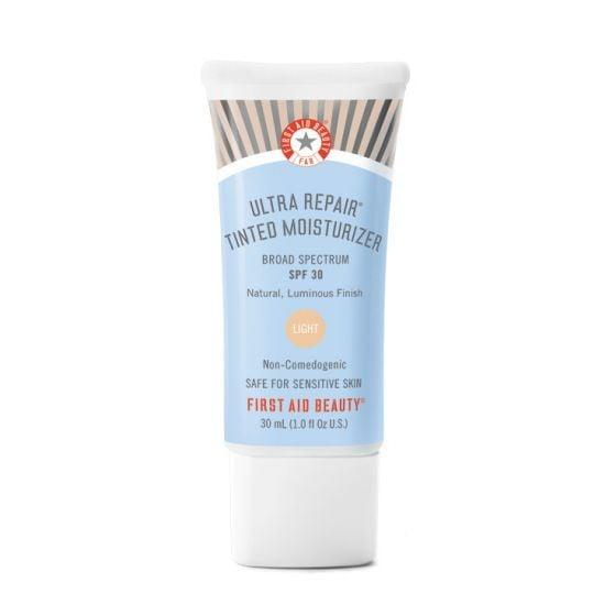 "<p>Nothing says ""you but better"" quite like a tinted moisturizer like the <span>First Aid Beauty Ultra Repair Tinted Moisturizer</span> ($28), which evens out the skin tone and camouflages dark spots.</p>"