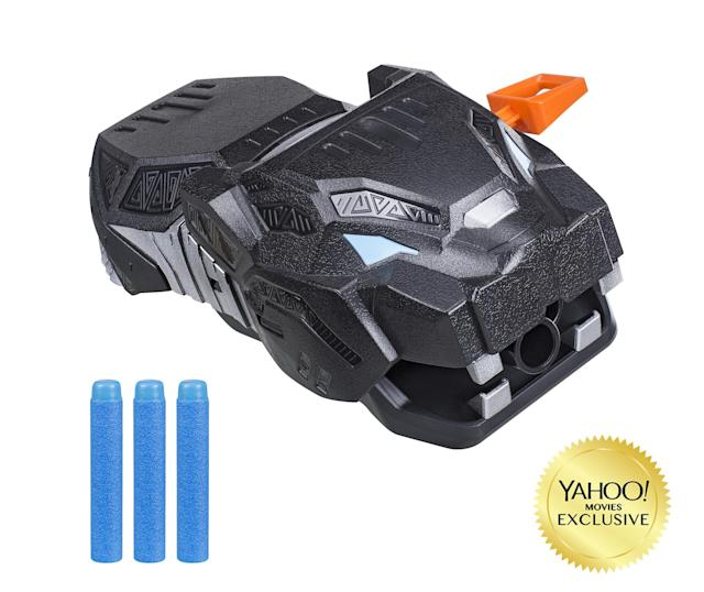 """<p>""""Protect the citizens of Wakanda and charge into combat with projectile-firing action! This Vibranium-powered Nerf Gauntlet looks like the head of a panther and is inspired by the technology designed and worn by Shuri in the movie. """" (Photo: Hasbro) </p>"""