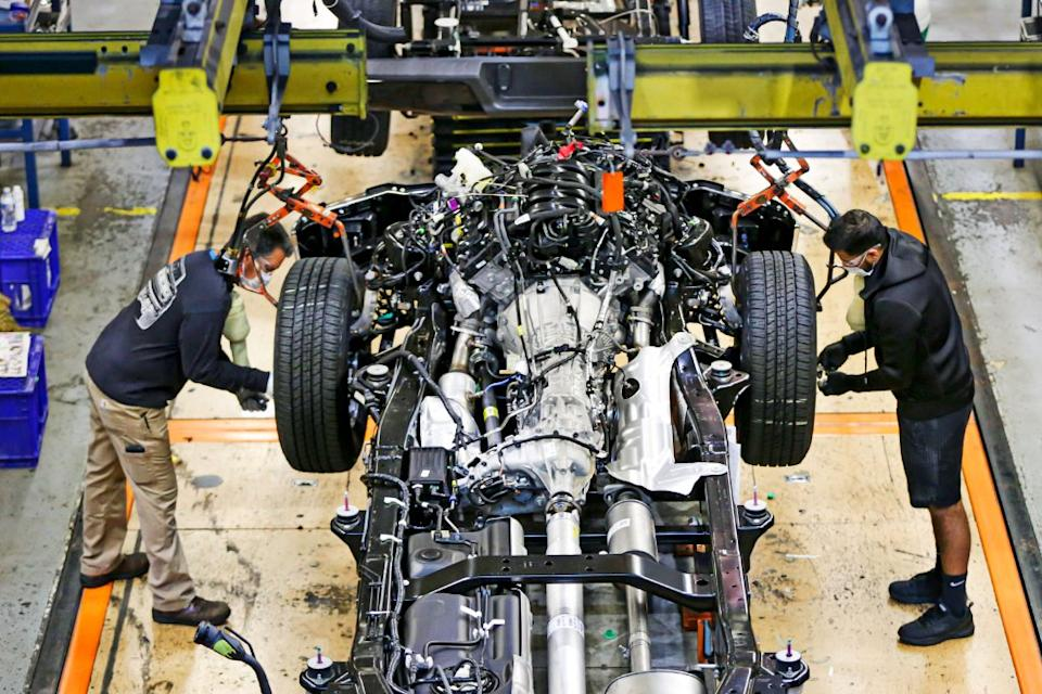 Ford's production lines returned to full capacity in June after three months of lockdown.
