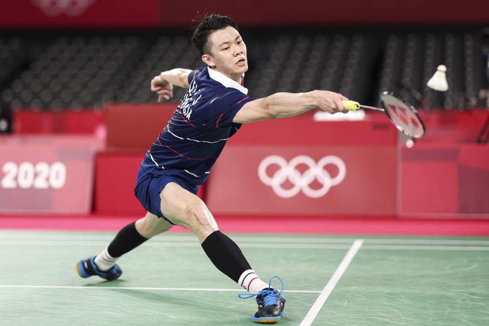 <p>CHOFU, JAPAN - JULY 29: Lee Zii Jia of Team Malaysia competes against Chen Long of Team China during a Men's Singles Round of 16 match on day six of the Tokyo 2020 Olympic Games at Musashino Forest Sport Plaza on July 29, 2021 in Chofu, Tokyo, Japan. (Photo by Lintao Zhang/Getty Images)</p>