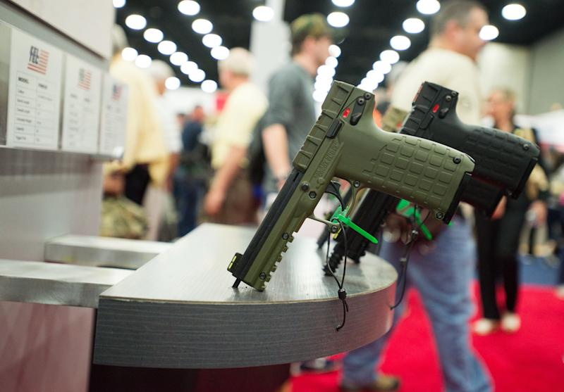 The NRA held its annual convention in Louisville, Kentucky, in May 2016, which included big names in gun manufacturing, like Smith & Wesson and Remington. Those same gun companies are now facing pressure from state and municipal pension funds, such as in Massachusetts, California, Connecticut, Florida, New Jersey and New York City, which have threatened to pull investments from gun manufacturers