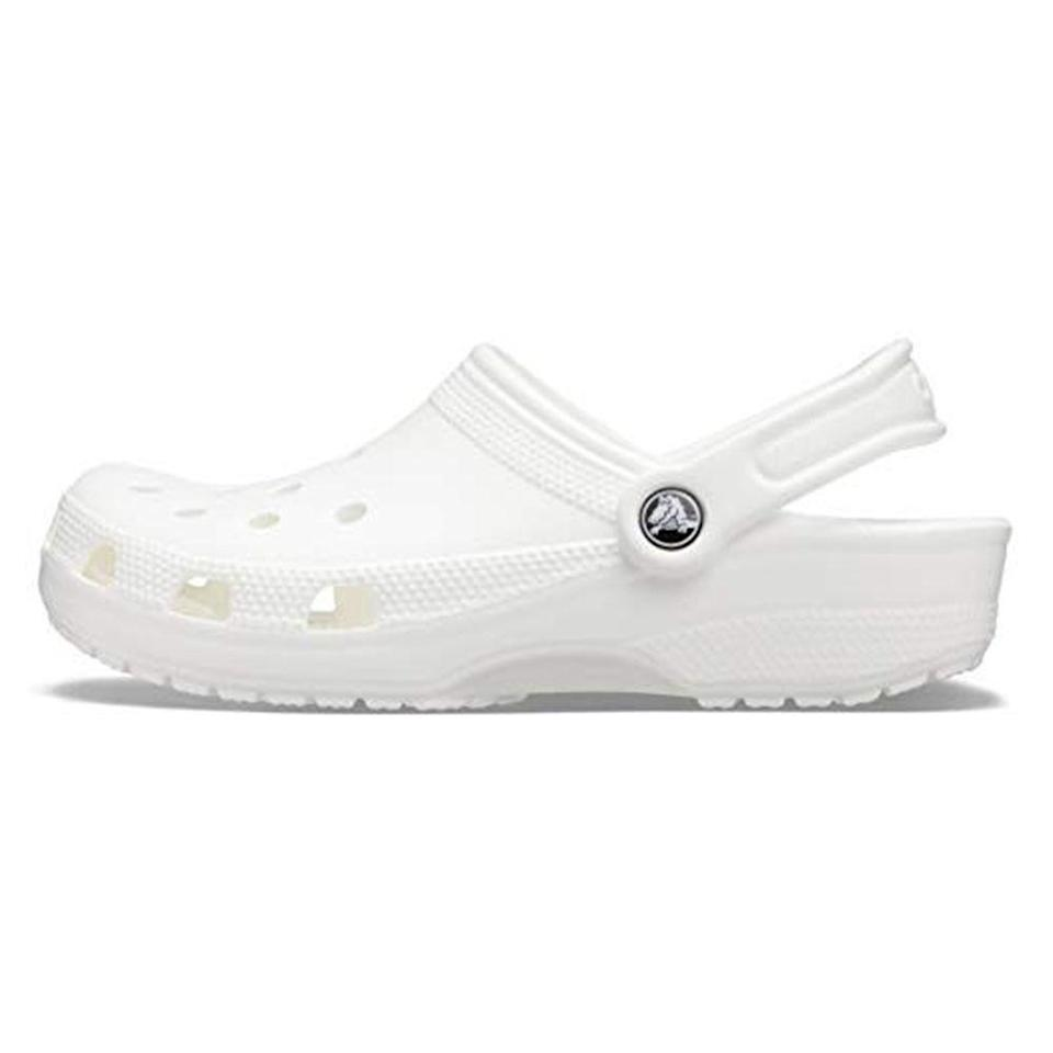 """<p><strong>Crocs</strong></p><p>amazon.com</p><p><strong>$44.99</strong></p><p><a href=""""https://www.amazon.com/dp/B00152AGEW?tag=syn-yahoo-20&ascsubtag=%5Bartid%7C2139.g.36007474%5Bsrc%7Cyahoo-us"""" rel=""""nofollow noopener"""" target=""""_blank"""" data-ylk=""""slk:BUY IT HERE"""" class=""""link rapid-noclick-resp"""">BUY IT HERE</a></p><p>If you've been sleeping on Crocs, it's time to wake! up. But don't take it from me. Take it from Heidi Bumanlag, who's review of the humble clog, titled '<a href=""""https://www.amazon.com/product-reviews/B08S5J6KTS/ref=acr_dp_hist_5?ie=UTF8&filterByStar=five_star&reviewerType=all_reviews&tag=syn-yahoo-20&ascsubtag=%5Bartid%7C2139.g.36007474%5Bsrc%7Cyahoo-us#reviews-filter-bar"""" rel=""""nofollow noopener"""" target=""""_blank"""" data-ylk=""""slk:How Crocs Changed My Life"""" class=""""link rapid-noclick-resp"""">How Crocs Changed My Life</a>', will tell you everything you need to know.</p>"""