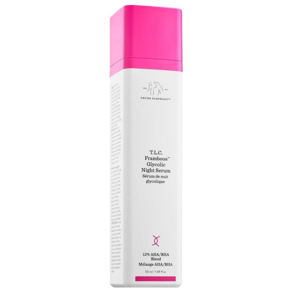 <p>This large sized <span>Drunk Elephant T.L.C. Framboos Glycolic Resurfacing Night Serum</span> ($134) will be a savior for their skin.</p>