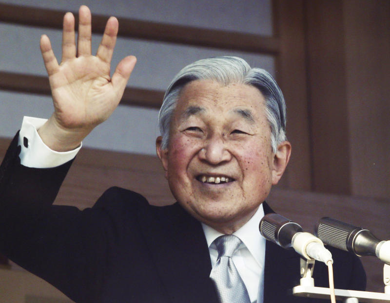 Japan enacts law for Emperor Akihito, 83, to abdicate