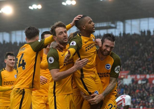 Stoke midfielder Charlie Adam sees late penalty saved as Brighton cling on for valuable point