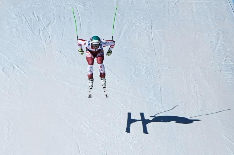 Only his shadow could keep pace with downhill world champion Kriechmayr