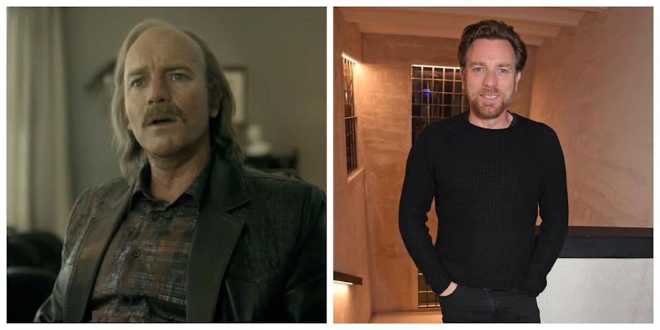 <p>You wouldn't even know that Ewan McGregor plays Emmit Stussy in <em>Fargo</em> if you didn't read the credits. That's how different the character and the actor really look. McGregor must spend quite a bit of time in the makeup chair before going on screen as Emmit. In real life, the actor looks younger and has a considerably better hairline. </p>