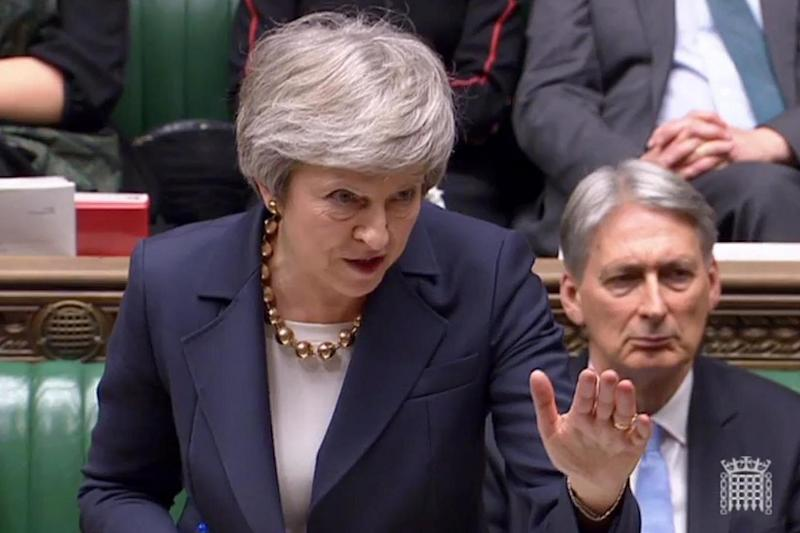 Theresa May will stagger on after a series of bruising Commons defeats (AFP/Getty Images)