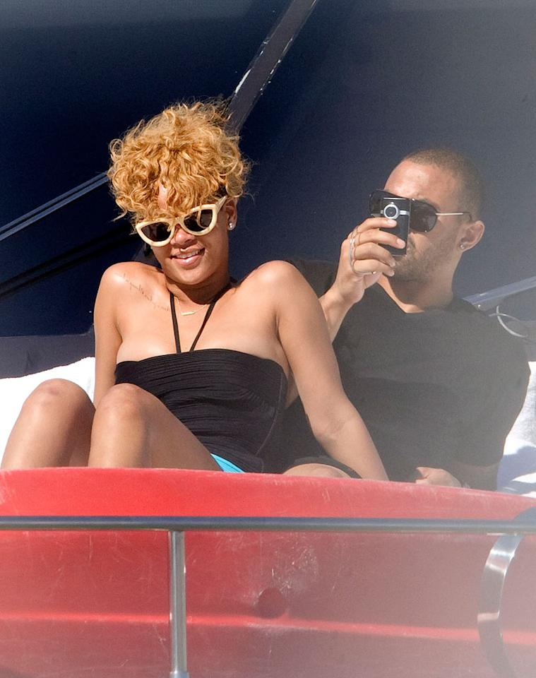 "In other pop star news, Rihanna and her alleged new boyfriend, handsome LA Dodgers outfielder Matt Kemp, were spotted sunbathing on a romantic yachting trip in the Sea of Cortez. Chris Brown, eat your heart out! Clasos.com/<a href=""http://www.splashnewsonline.com"" target=""new"">Splash News</a> - January 6, 2010"