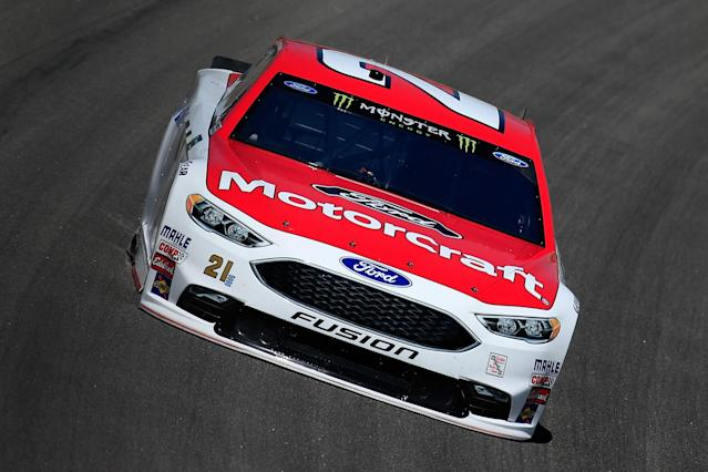 "<a class=""link rapid-noclick-resp"" href=""/nascar/nationwide/drivers/3085"" data-ylk=""slk:Ryan Blaney"">Ryan Blaney</a> posted his fastest lap of qualifying in the third round. (Getty)"