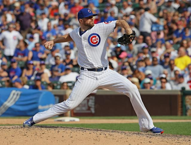 Wade Davis's performance and experience makes him a terrifying weapon for the Cubs. (Photo by Jonathan Daniel/Getty Images)