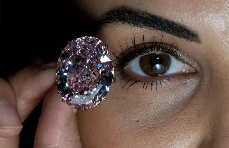 "The 59.60-carat ""Pink Star"" diamond is the largest in its class ever graded by the Gemological Institute of America"