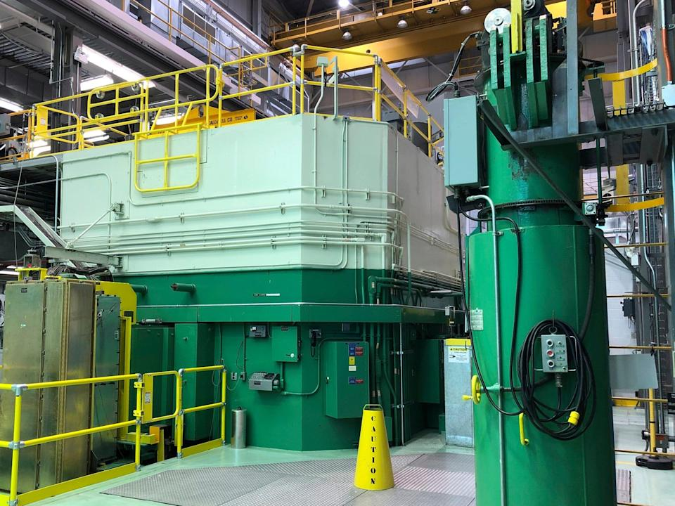 This Nov. 29, 2018, file photo, shows the Transient Test Reactor at the Idaho National Laboratory about 50 miles west of Idaho Falls, in eastern Idaho.
