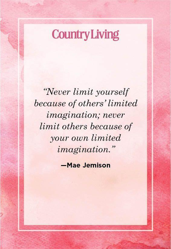 """<p>""""Never limit yourself because of others' limited imagination; never limit others because of your own limited imagination.""""</p>"""