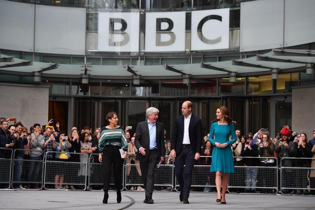 The Duke and Duchess of Cambridge during a visit to BBC Broadcasting House in London