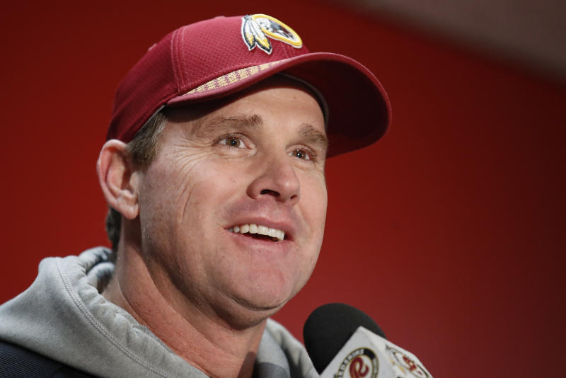 Washington Redskins head coach Jay Gruden will return for another season, according to a report. (AP)