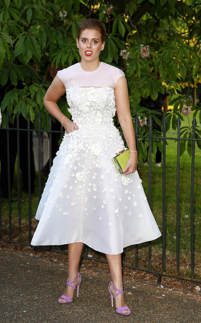 Princess Beatrice attends the The Serpentine Gallery summer party at The Serpentine Gallery on July 1, 2014 in London, England.