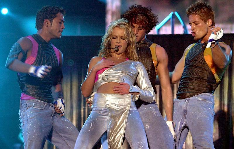 RIO DE JANEIRO, BRAZIL: US singer Britney Spears performs in the third edition of the Rock in Rio music festival in Rio de Janeiro, Brazil 19 January 2001. Over 250,000 people gathered for the concert. AFP PHOTO/Bruno DOMINGOS (Photo credit should read BRUNO DOMINGOS/AFP/Getty Images)