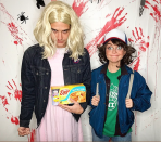 <p>Who wasn't dressing up as characters from the hit show <em>Stranger Things</em> in 2017. Wells and Sarah joined in on the fun for a 2017 celebration. Sarah went as Dustin while Wells took on Eleven's look.</p>