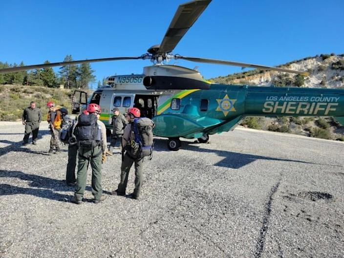 Search teams were deployed in the Mt. Waterman area of the San Gabriel Mountains to find hiker Rene Compean