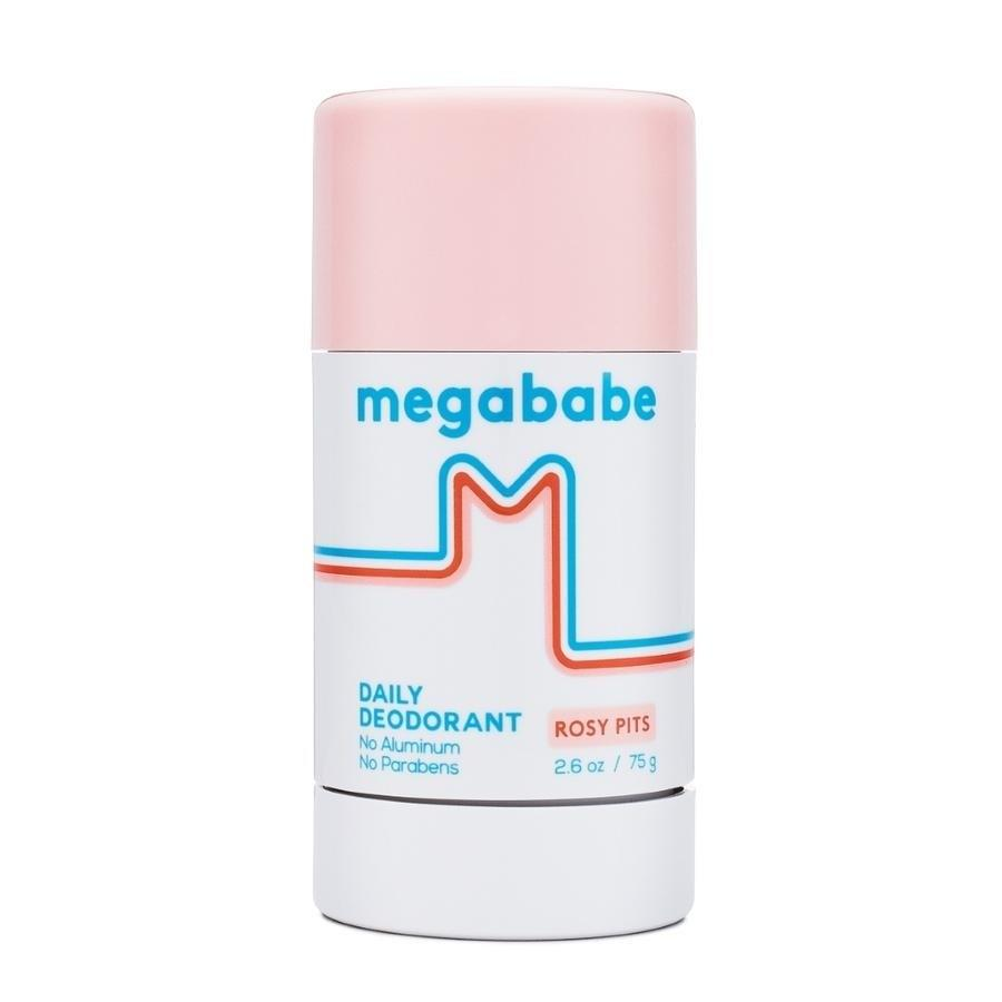 """Megababe has garnered somewhat of a cult following due to its Instagram-friendly packaging and destigmatization of the less cute aspects of beauty (boob sweat and <a href=""""https://www.glamour.com/story/katie-sturino-woty-all-year?mbid=synd_yahoo_rss"""">thigh chafing</a> included). And the products really work. Despite the femme packaging and rosy name, their natural deodorant actually has a very earthy and clean smell. I'm usually not a fan of natural deodorants—I find them sticky and ineffective—but this one does the trick. It keeps B.O. at bay, is comfortable to wear, and doesn't leave white streaks on my clothes. No wonder it had a <a href=""""https://www.glamour.com/story/megababe-rosy-pits-natural-deodorant?mbid=synd_yahoo_rss"""">13,000-person waiting list</a> at one point. <em>—Bella Cacciatore, beauty associate</em> $14, Megababe Rosy Pits Deodorant. <a href=""""https://shop-links.co/1695742731974425867"""">Get it now!</a>"""