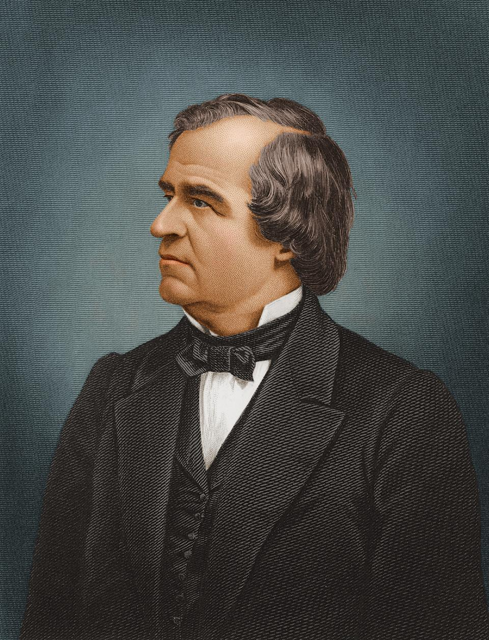 Andrew Johnson, el presidente #17 de Estados Unidos. (Getty Images)