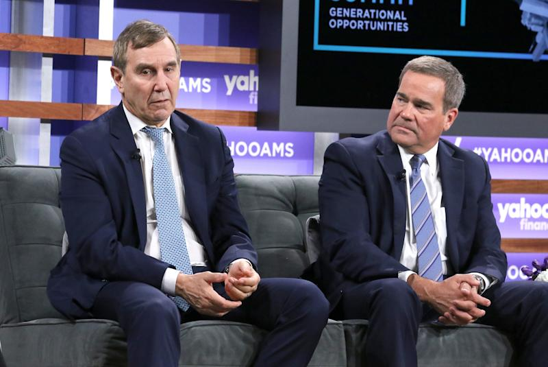 NEW YORK, NEW YORK - OCTOBER 10: CEO of Edelman Richard Edelman (L) president and CEO at Principal Financial Group Dan Houston attend the Yahoo Finance All Markets Summit at Union West Events on October 10, 2019 in New York City. (Photo by Jim Spellman/Getty Images)