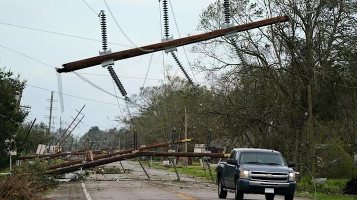 More than half a million homes in Louisiana were reported to be without power