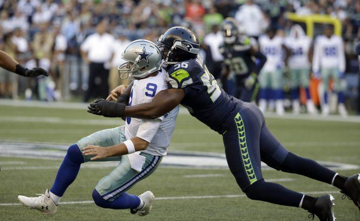 Cliff Avril's hit on Tony Romo will likely knock Romo out for a significant portion of the season (AP)