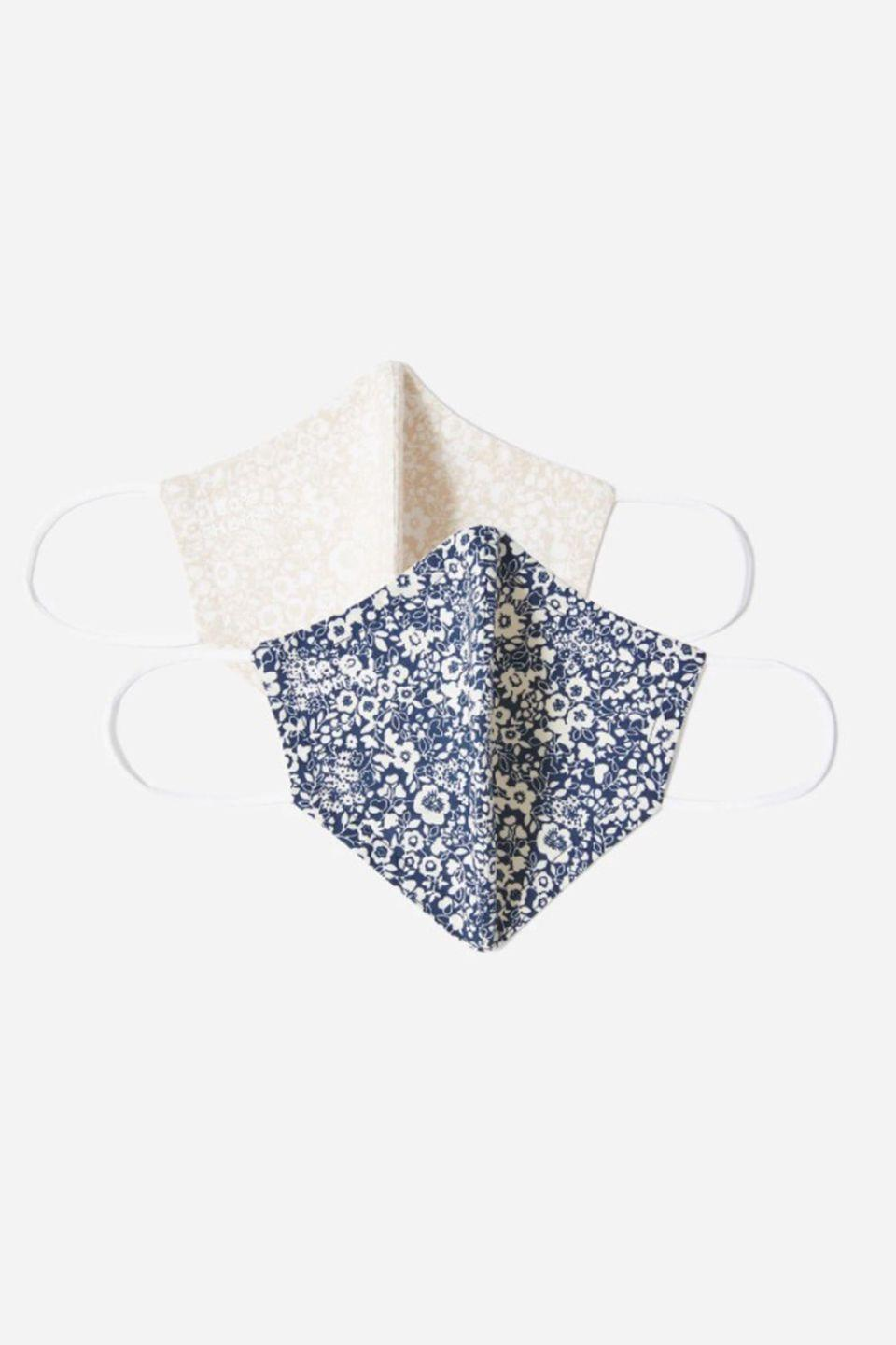 """<p><a class=""""link rapid-noclick-resp"""" href=""""https://go.redirectingat.com?id=127X1599956&url=https%3A%2F%2Fwww.everlane.com%2Fproducts%2Funisex-floral-mask-2-assorted%3Fcollection%3Dface-masks&sref=https%3A%2F%2Fwww.harpersbazaar.com%2Fuk%2Ffashion%2Fwhat-to-wear%2Fg32458277%2Fshop-fabric-face-masks%2F"""" rel=""""nofollow noopener"""" target=""""_blank"""" data-ylk=""""slk:SHOP NOW"""">SHOP NOW</a></p><p>Each Everlane reusable non-medical mask is made from a double-layer woven fabric and features elastic ear loops for a little stretch and a lot of comfort. For optimal use, Everlane suggest washing the masking before using and after each wear. Once it's on, do your best to avoid adjusting.</p><p>£12, Everlane </p>"""