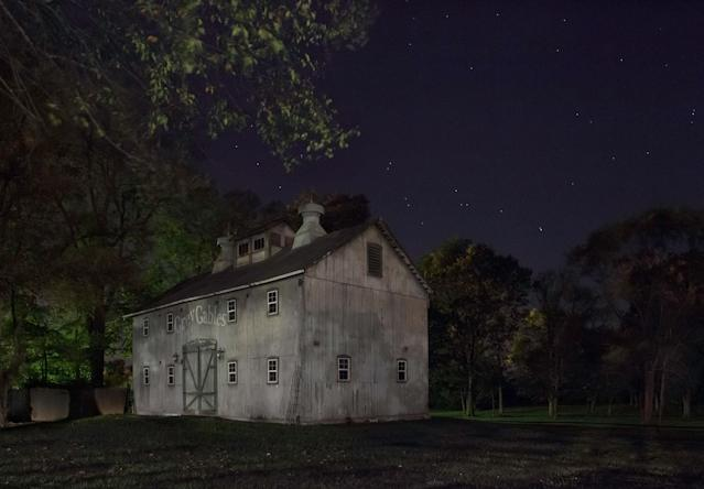 <p>Joshua Eliason Jr. barnyards and farmhouse, an Underground Railroad station, with a tunnel leading underneath the road to another station, Centerville, Indiana. (Photograph by Jeanine Michna-Bales) </p>