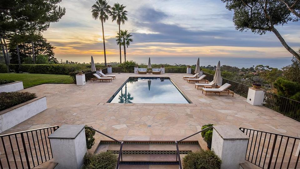 The grounds include a pool, tennis court, putting green, guest house and more. - Credit: Photo: Courtesy of Vista Sotheby's International Realty