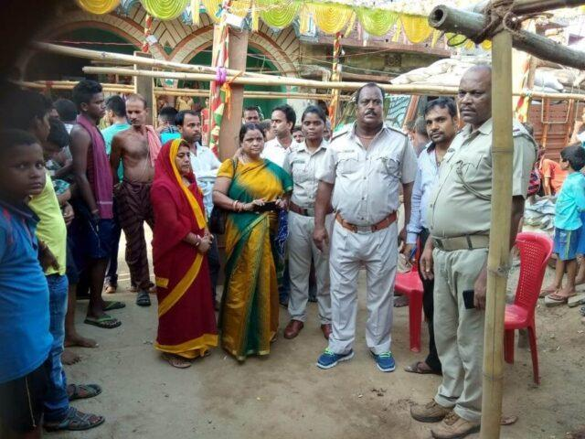 Police and Childline members at the Nayagarh minor's wedding venue