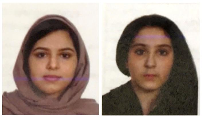Passport photos of Tala and Rotana Farea, found dead in New York.  (Photo: ASSOCIATED PRESS)