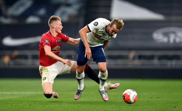 Harry Kane returned to action against Manchester United on Friday night (Shaun Botterill/PA)