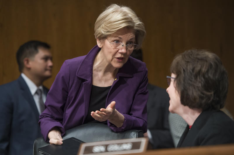 Sens. Elizabeth Warren (D-Mass.) and Susan Collins (R-Maine) were both involved in the Girl Scouts of the USA. (Tom Williams via Getty Images)